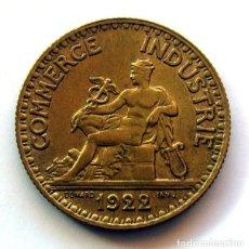 Monedas antiguas de Europa: MONEDAS DEL MUNDO . FRANCIA . 2 FRANCS 1922 . CHAMBRES DE COMMERCE . SIN CIRCULAR. Lote 110895535
