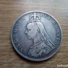 Monedas antiguas de Europa: REINO UNIDO. DOBLE FLORÍN DE PLATA DE 1887. Lote 111497359