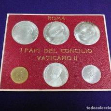 Monedas antiguas de Europa: JUEGO DE 6 MONEDAS DEL VATICANO. I PAPI DEL CONCILIO VATICANO II. ROMA. PAPA. MEDALLAS - RECUERDO.. Lote 217835088