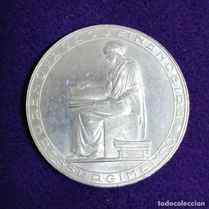 MONEDA DE PLATA DE PORTUGAL. 20 ESCUDOS. REFORMA FINANCIERA. 1953. SIN CIRCULAR. SILVER. (Numismática - Extranjeras - Europa)
