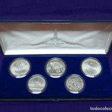 Monedas antiguas de Europa: JUEGO DE 5 MONEDAS DE PLATA 900. OLIMPIADAS MOSCU. RUSIA. JUEGOS OLIMPICOS 1980. SILVER.SIN CIRCULAR. Lote 173021629