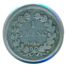 Monedas antiguas de Europa: FRANCIA 1 FRANCO 1842 - W ( BC+ ) - LUIS FELIPE I DE FRANCIA - CECA LILLE - PLATA. Lote 112063639