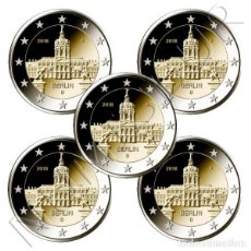 Alte Münzen aus Europa - ALEMANIA 2 Euro 2018 A+D+F+G+J Estado de Berlín - Palacio de Charlotteburg - 112137567