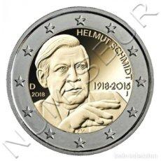 Alte Münzen aus Europa - ALEMANIA 2 Euro 2018 Centenario del Nacimiento de Helmut Schmidt - 129135950