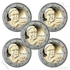 Alte Münzen aus Europa - ALEMANIA 2 Euro 2018 A+D+F+G+J Centenario del Nacimiento de Helmut Schmidt - 112137999