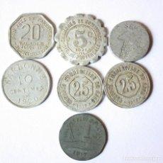 Monedas antiguas de Europa: LOTE DE 7 FICHAS PRIMERA GUERRA MUNDIAL Y ENTRE GUERRAS FRANCIA. ALGUNA RARA.. Lote 112960011