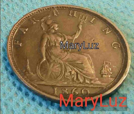 Monedas antiguas de Europa: REINA VICTORIA. GRAN BRETAÑA. FAR THING. 1860. - Foto 2 - 112891995