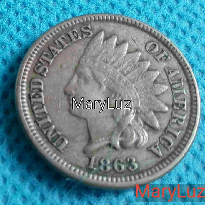 ONE CENT. UN CENTAVO. EEUU. AÑO 1863 ENVÍO: 1,30 € *. (Numismática - Extranjeras - Europa)
