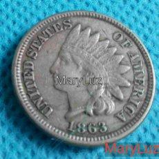 Monedas antiguas de Europa: ONE CENT. UN CENTAVO. EEUU. AÑO 1863 ENVÍO: 1,30 € *.. Lote 112896203