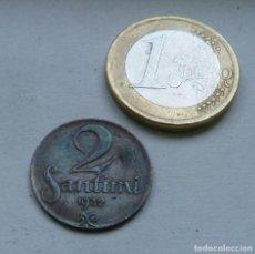 Monedas antiguas de Europa: MONEDA DE 2 SANTIMI DE LETONIA AÑO 1932. Lote 113277303