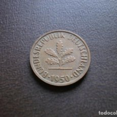 Monedas antiguas de Europa: ALEMANIA ( REP. FEDERAL ) 2 PFENNIG 1950 D. Lote 113280327