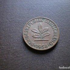 Monedas antiguas de Europa: ALEMANIA ( REP. FEDERAL ) 2 PFENNIG 1958 J. Lote 113280467