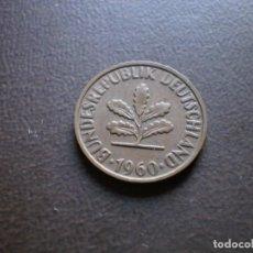 Monedas antiguas de Europa: ALEMANIA ( REP. FEDERAL ) 2 PFENNIG 1960 F. Lote 113280555