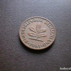 Monedas antiguas de Europa: ALEMANIA ( REP. FEDERAL ) 2 PFENNIG 1961 F. Lote 113280607