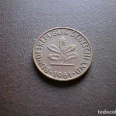 Monedas antiguas de Europa: ALEMANIA ( REP. FEDERAL ) 2 PFENNIG 1961 J. Lote 113280695