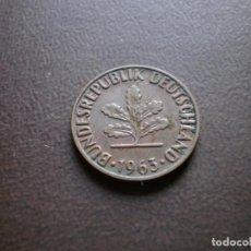 Monedas antiguas de Europa: ALEMANIA ( REP. FEDERAL ) 2 PFENNIG 1963 F. Lote 113280915