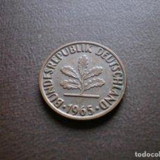 Monedas antiguas de Europa: ALEMANIA ( REP. FEDERAL ) 2 PFENNIG 1965 D. Lote 113280983