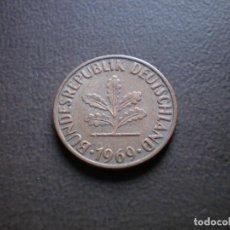 Monedas antiguas de Europa: ALEMANIA ( REP. FEDERAL ) 2 PFENNIG 1969 F. Lote 113281355