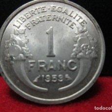 Monedas antiguas de Europa: 1 FRANCO 1959 FRANCIA SIN CIRCULAR ALUMINIO. Lote 113494899