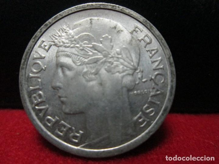 Monedas antiguas de Europa: 1 franco 1959 francia SIN CIRCULAR aluminio - Foto 2 - 113494899