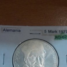 Monedas antiguas de Europa: ALEMANIA PLATA 5 MARK 1977 SC KM145. Lote 113556831