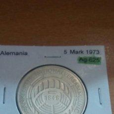 Monedas antiguas de Europa: ALEMANIA PLATA 5 MARK 1973 SC KM137. Lote 113557108