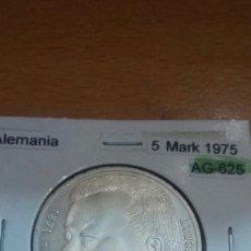 Monedas antiguas de Europa: ALEMANIA PLATA 5 MARK 1975 SC KM141. Lote 113557454