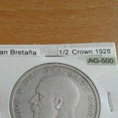 Monedas antiguas de Europa: GRAN BRETAÑA PLATA 1/2 CORONA 1928 MBC KM835. Lote 113580714