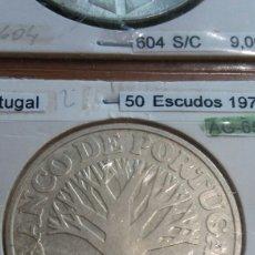 Monedas antiguas de Europa: PORTUGAL PLATA 50 ESCUDOS 1971 SC KM601. Lote 113660588