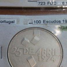Monedas antiguas de Europa: PORTUGAL PLATA 100 ESCUDOS 1976 SC KM603. Lote 113661063