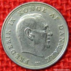Monedas antiguas de Europa: DINAMARCA - REY FEDERICO IX - 1 KRONE - 1971 - KRAUSE KM# 851. Lote 113703455