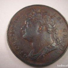 Monedas antiguas de Europa: GRAN BRETAÑA GEORGE IIII FARTHING 1822. Lote 113733671