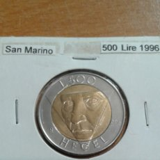 Monedas antiguas de Europa: SAN MARINO 500 LIRAS 1996 SC. Lote 278873898