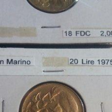 Monedas antiguas de Europa: SAN MARINO 20 LIRE 1975 SC. Lote 278873943
