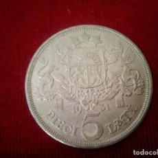 Monedas antiguas de Europa: LETONIA. 5 LATI DE PLATA DE 1931. Lote 153445450