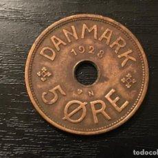 Monedas antiguas de Europa: MONEDA 5 ORE DINAMARCA 1928. Lote 114107483