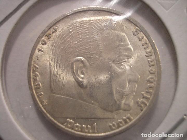 TERCER REICH 5 REICHSMARK 1936 E SILVER PLATA (Numismática - Extranjeras - Europa)