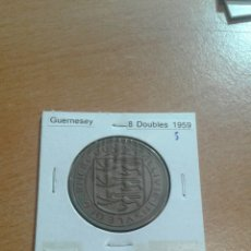 Monedas antiguas de Europa: GUERNESEY 8 D OUBLES 1959 EBC. Lote 114248243