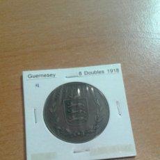 Monedas antiguas de Europa: GUERNESEY 8 D OUBLES 1918 EBC. Lote 114248375