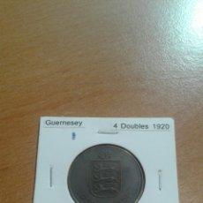 Monedas antiguas de Europa: GUERNESEY 4 D OUBLES 1920 EBC. Lote 114248492
