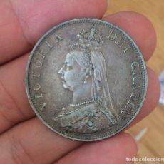 Monedas antiguas de Europa: EDU8 – GRAN BRETAÑA DOBLE FLORIN 1890 – PLATA – VICTORIA BUSTO JUBILEO. Lote 114232430