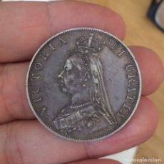 Monedas antiguas de Europa: EDU8 – GRAN BRETAÑA DOBLE FLORIN 1887 – PLATA – VICTORIA BUSTO JUBILEO. Lote 114232434