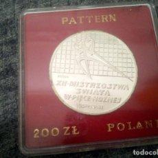 Monedas antiguas de Europa: 200 ZLOTYCH DE POLONIA DE 1982 COPA DEL MUNDO DE FÚTBOL EN ESPAÑA. PLATA. PROOF. ESTUCHE. Lote 134050203