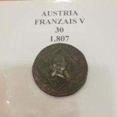 Monedas antiguas de Europa: MONEDA AUSTRIA FRANZAIS V 1807. Lote 114354219