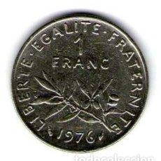 Monedas antiguas de Europa: FRANCIA 1 FRANC AÑO 1976 (KM925.1). Lote 114428631