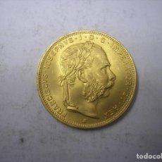 Monedas antiguas de Europa: AUSTRIA , 8 FLORINES =20 FRANCOS DE ORO DE 1892. EMPERADOR FRANCISCO JOSÉ. Lote 114552427