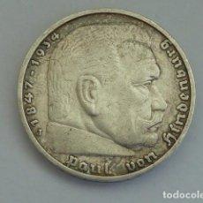 Monedas antiguas de Europa: MONEDA DE PLATA 5 MARCOS 1935 CECA J, HAMBURGO, ALEMANIA NAZI, MARISCAL PAUL VON HINDENBURG. Lote 114699899