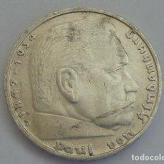 Monedas antiguas de Europa: MONEDA DE PLATA 5 MARCOS 1935 CECA D, MUNICH, ALEMANIA NAZI, MARISCAL PAUL VON HINDENBURG. Lote 114700479