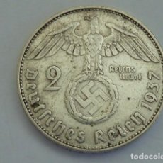 Monedas antiguas de Europa: MONEDA DE PLATA 2 MARCOS 1937 CECA J, HAMBURGO, ALEMANIA NAZI, MARISCAL PAUL VON HINDENBURG. Lote 114700563