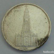Monedas antiguas de Europa: ALEMANIA NAZI, MONEDA DE PLATA DE 5 MARCOS 1935 CECA D, MUNICH, BERLIN, IGLESIA D GARNISONSKIRCHE. Lote 114701735